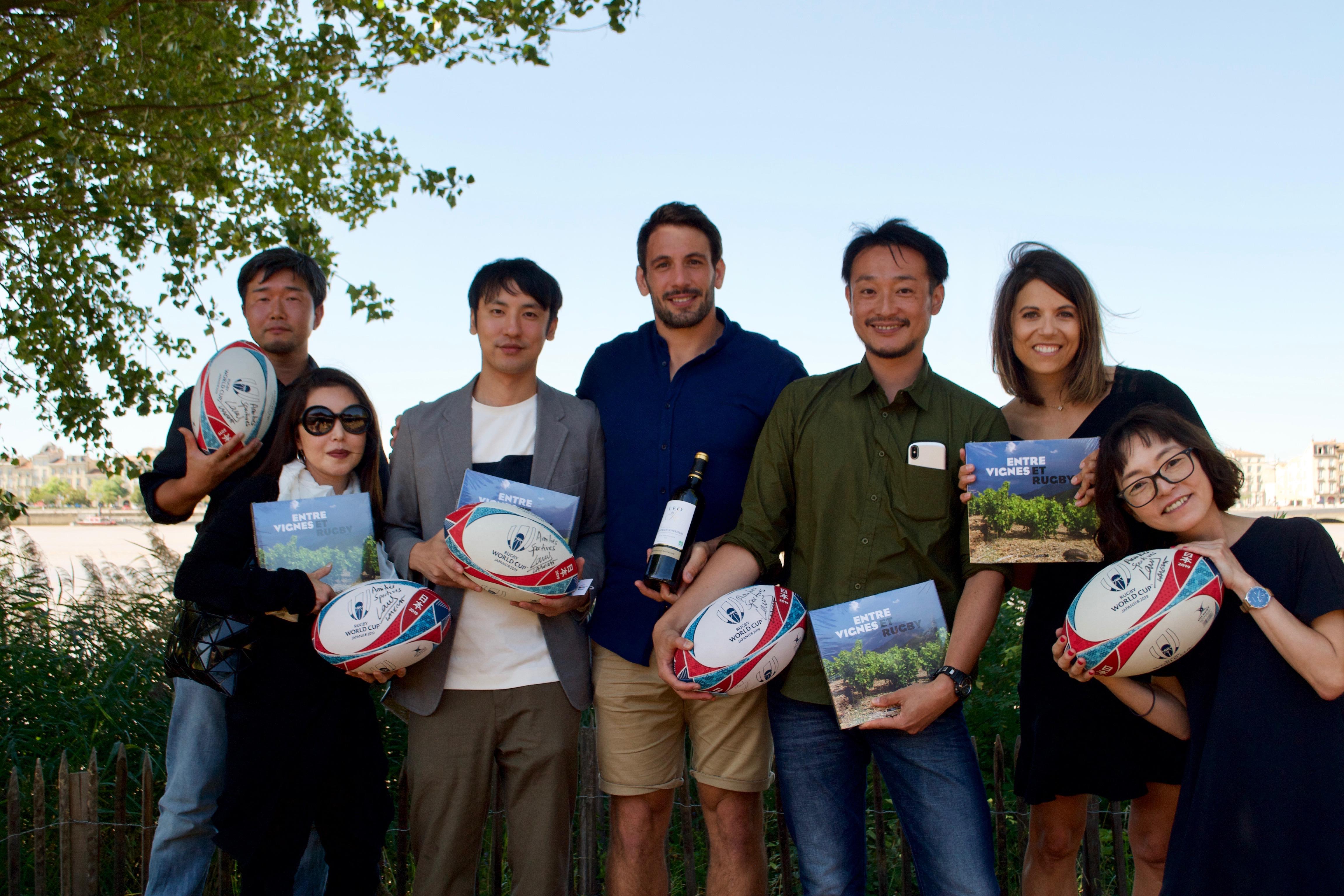 Une rencontre France-Japon autour de passions communes : rugby et vin.